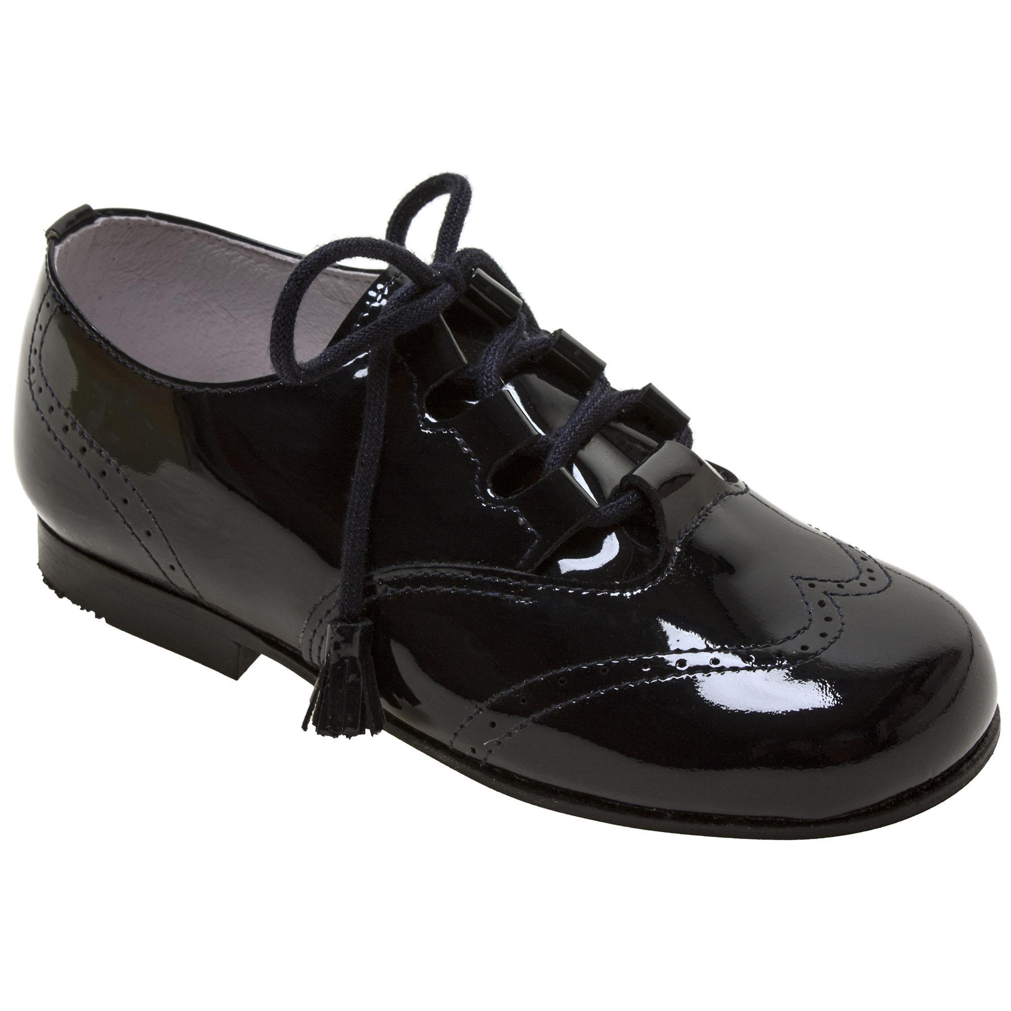 Boys Black Patent Brogue Shoes   Cachet
