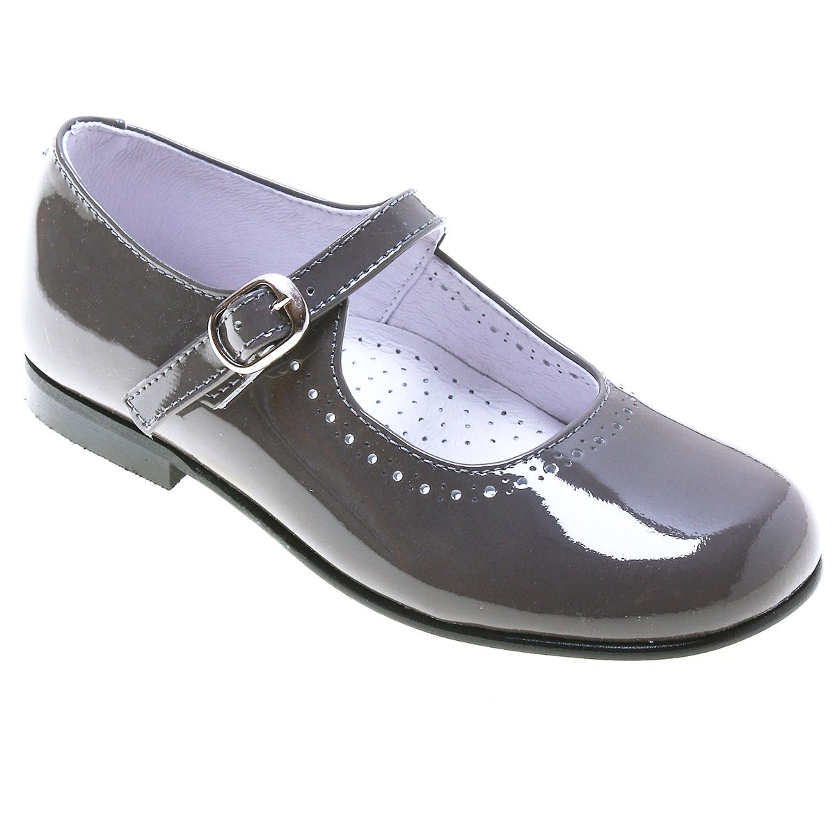 Black And Grey Mary Janes Shoes