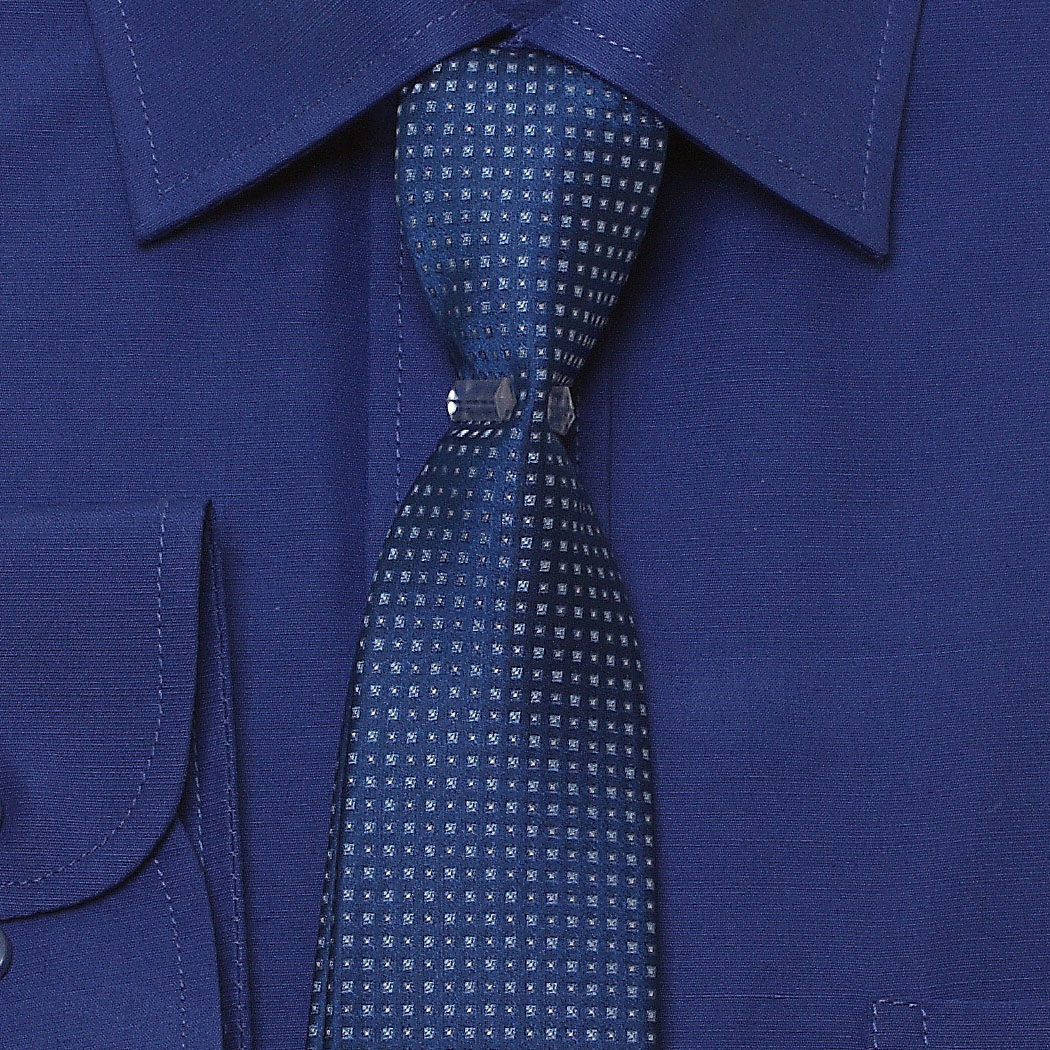 cd1b0ce4 Boys Royal Blue Shirt And Tie Set In High Quality Fabric. Double tap to zoom