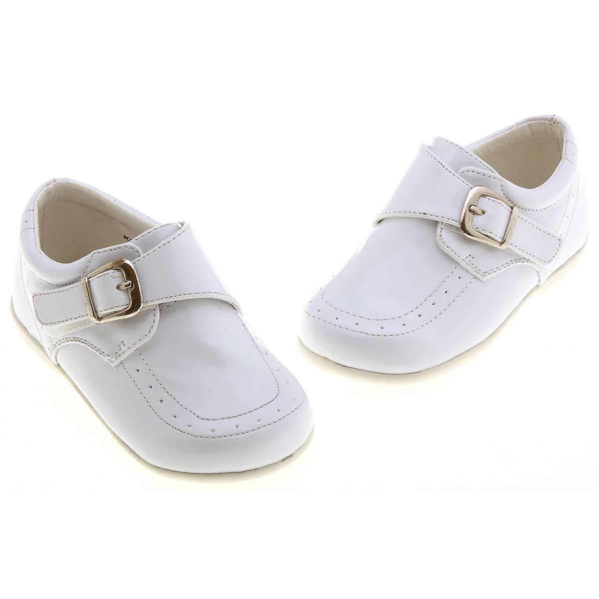 Baby and toddler boys white patent shoes sales size 4 to ...