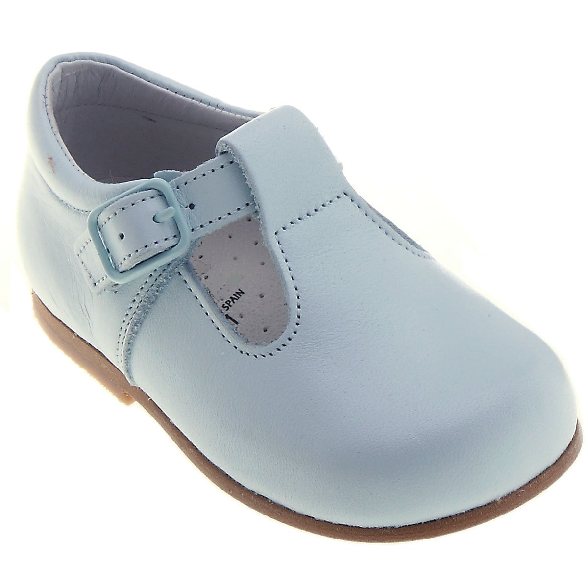 Spanish Baby Blue Leather Shoes For First Walker
