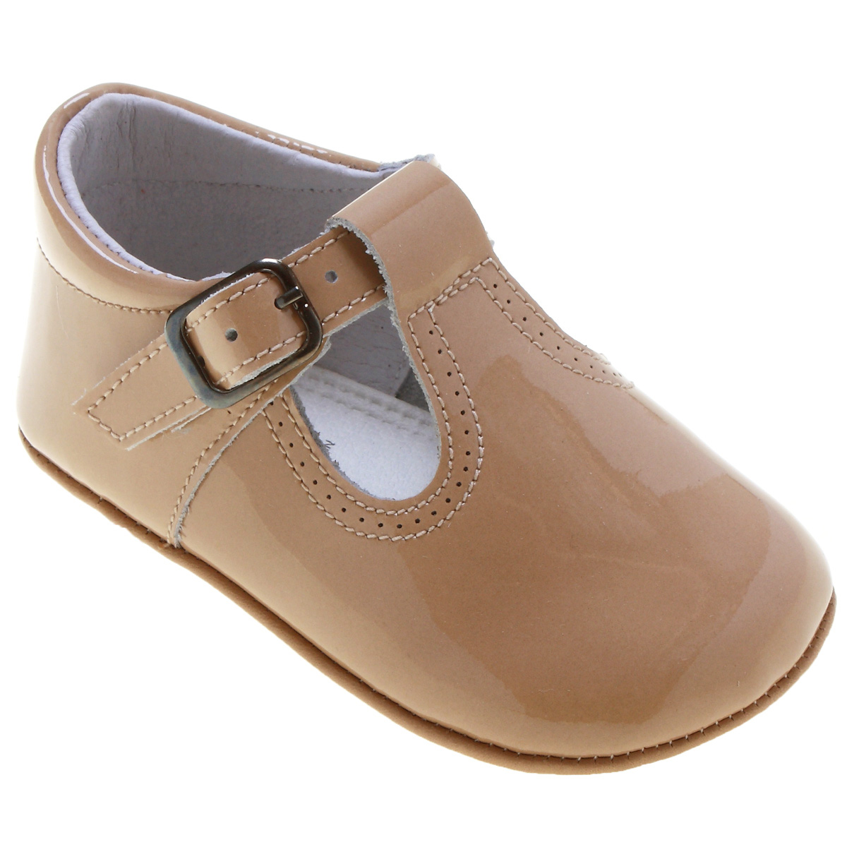 Baby T Bar Shoes in Caramel Colour