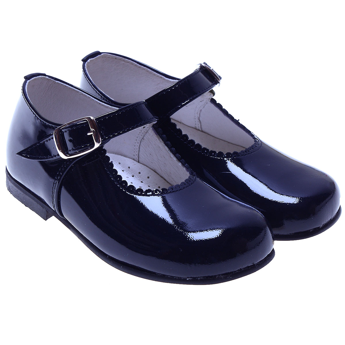 Classic Mary Jane Navy Shoes In Patent For a Toddle Girl ...