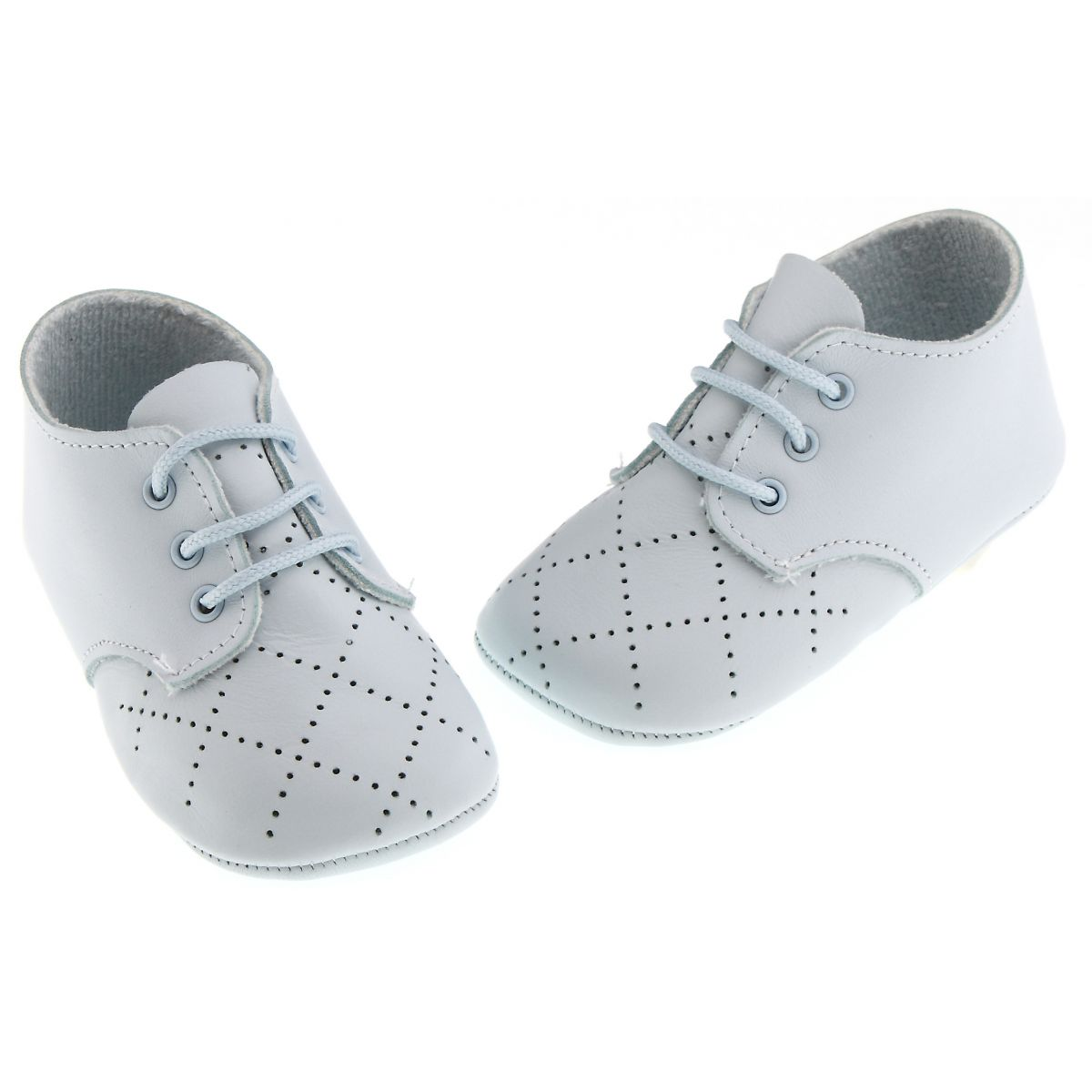 baby boys soft leather shoes blue cachet