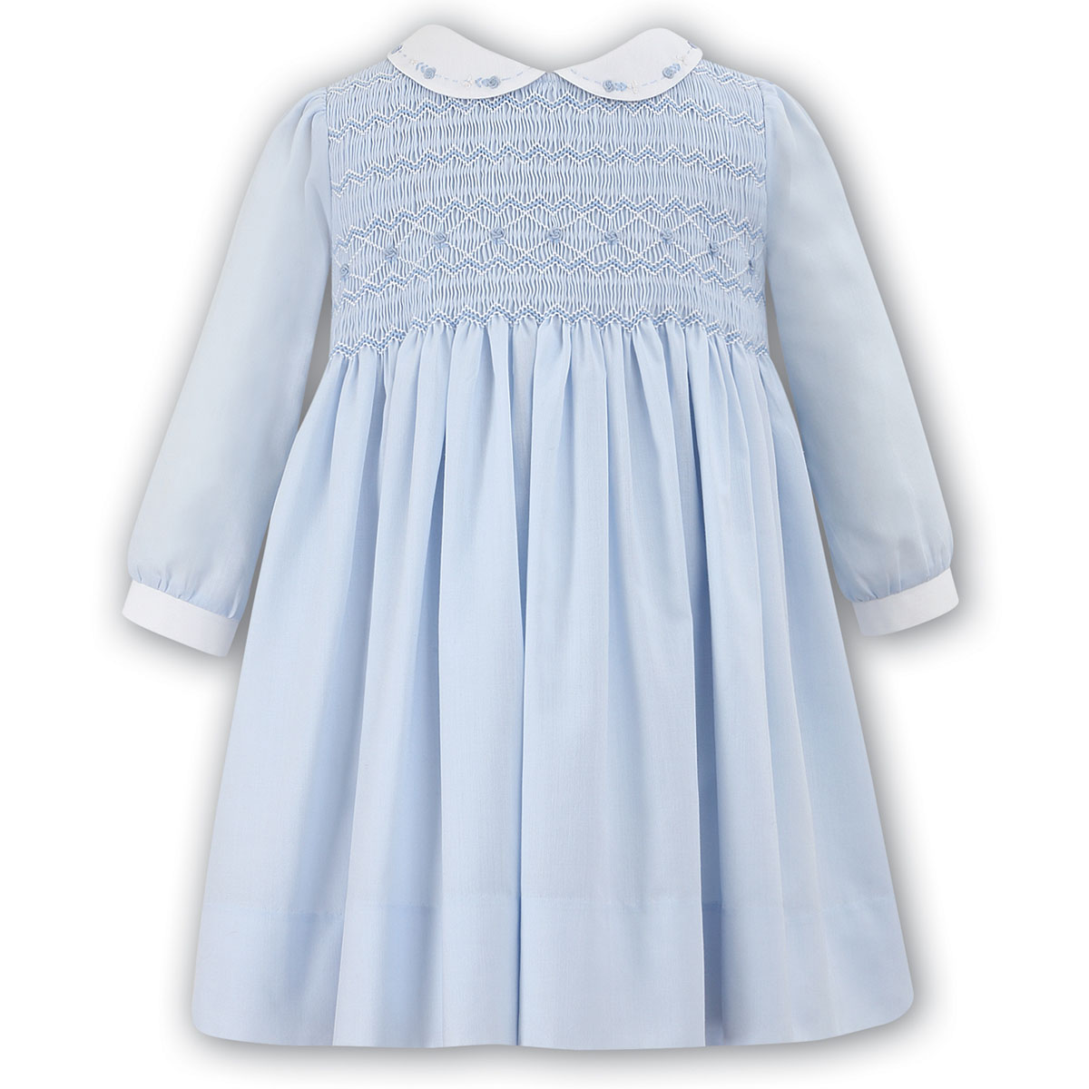 Absolutely Beautiful Sarah Louise Baby Girls Blue Smocked ...