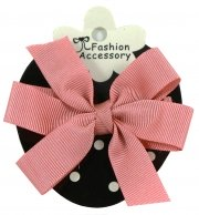 Boutique Hair Bow In Dusky Pink