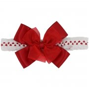 Large Red Bow Headband