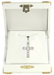 Communion Jewellery - Cubic Zirconia Cross Communion Necklace