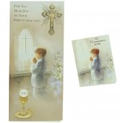 For You Dear Son Communion Card With Colour Illustrated Communion Book