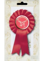 Red Confirmation Rosette