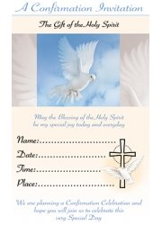 Pack Of 12 Confirmation Invitation Card
