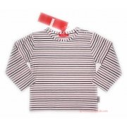 ELLE E05508 baby girl long sleeves pink stripy top