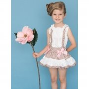 Dolce Petit Girls White White Caramel Lace Caramel Skirt Outfit