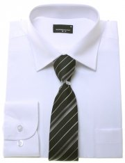 High Quality Boys White Shirt And Tie Set