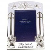 Silver plated first holy communion picture frame