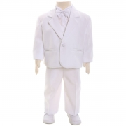 Baby Boys White Suit Set Christening/Wedding Outfit