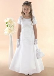 Elegantly Simple Beautiful Communion Dress With Encrusted Beads