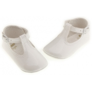 Baby girls and boys white patent shoes