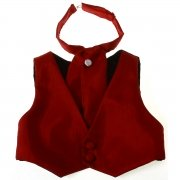 Boys burgundy waistcoat and cravat baby to 8 years