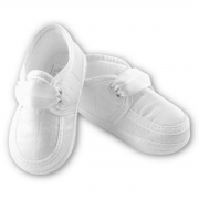 Sarah Louise boys christening shoes in white