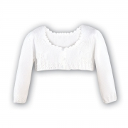 739 Sarah Louise girls white cardigan