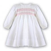 Sarah Louise Ivory Heavily Smocked Dress