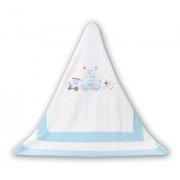 Sarah Louise Baby Boy's Teddy Bear White Shawl / Blanket