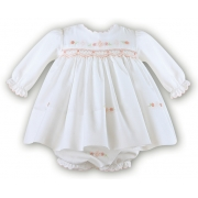Sarah Louise Beautiful Ivory Smocked Dress And Panty Set