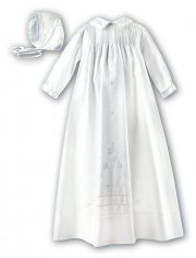 Baby Boys White Christening Gown By Sarah Louise