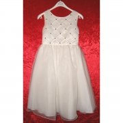 SALE Sarah Louise Bead Dress in Ivory IVORY With Navy Beads