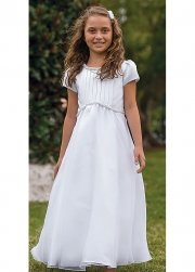First Holy Communion Dress Front Pleated
