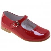 Patent Red Shoes For Girls Leather Mary Jane Style