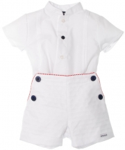 100% Cotton Tutto Piccolo Baby Boys White Outfit