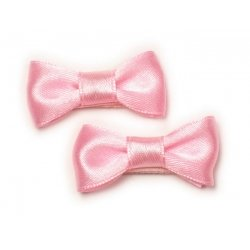Pair of hair clips with bow in pink