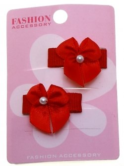 Pair Of Red Ribbon Bow Bead Sheepies