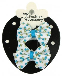 Baby Sheepies With Snap Clips Blue Floral Print On white