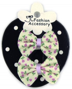 Lilac Floral Sheepies Snap Clips For Baby With Little Or Fine Hairs