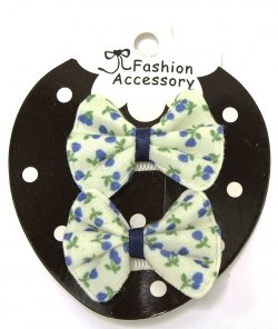 Navy Floral Print Sheepies With Snap Clips For Baby With Little Or Fine Hairs
