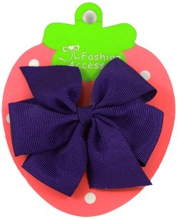 Purple Hair Bow Large Grosgain Ribbon