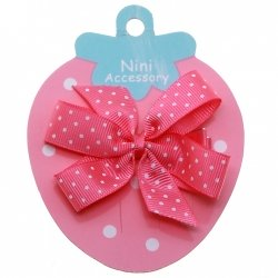 Fuchsia With White Polka Dots Boutique Bow