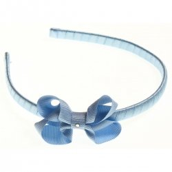 Blue bow Alice band