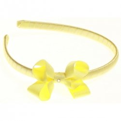Lemon bow Alice band