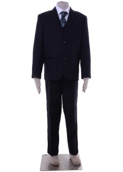 Boys Special Occasion Quality Navy Suit 5 Piece