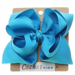 Large Aqua Blue Colour Double Stacking Bow