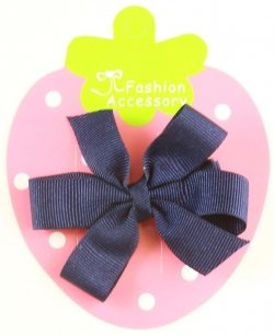 Boutique Hair Bow in navy