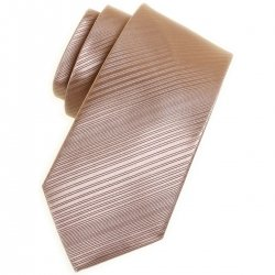 Boy light gold tie in patterned fabric