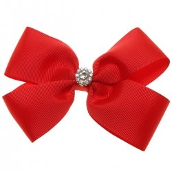 Large Red Bow With Glitter Diamantes