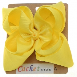 Large Lemon Yellow Double Stacking Bow