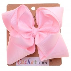 Large Pink Double Stacking Bow