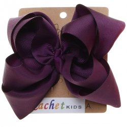 Large Plum Colour Double Stacking Bow
